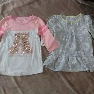 2 adorable girls shirts.